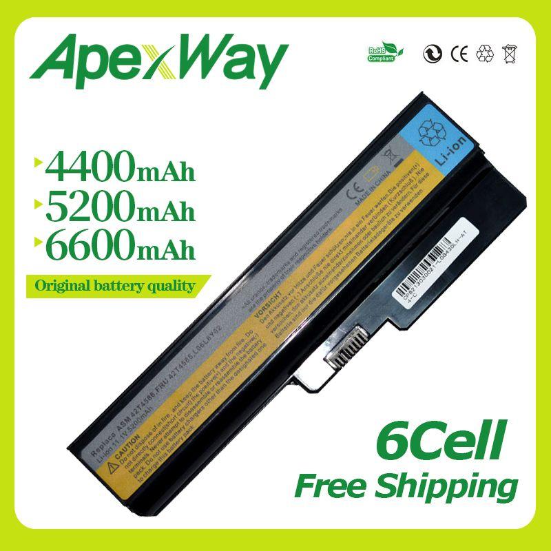 Apexway 6 zellen 11,1 v Laptop Akku Für Lenovo N500 G550 für IdeaPad G430 V460 Z360 B460 L08S6Y02