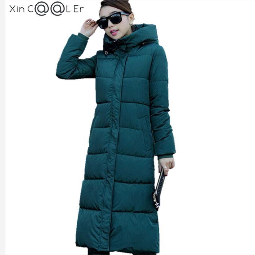 2019 haute qualité automne hiver Design femmes coton Slim Zipper manteau à capuche vestes manteaux pardessus grande taille vers le bas Parkas noir