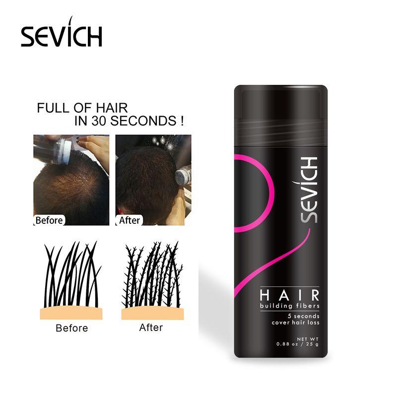 Sevich Fiber de Renforcement Des Cheveux Épaississement de Cheveux Kératine Cheveux Fiber De Pulvérisateur Poudre De Perte De Cheveux Mélange Extension