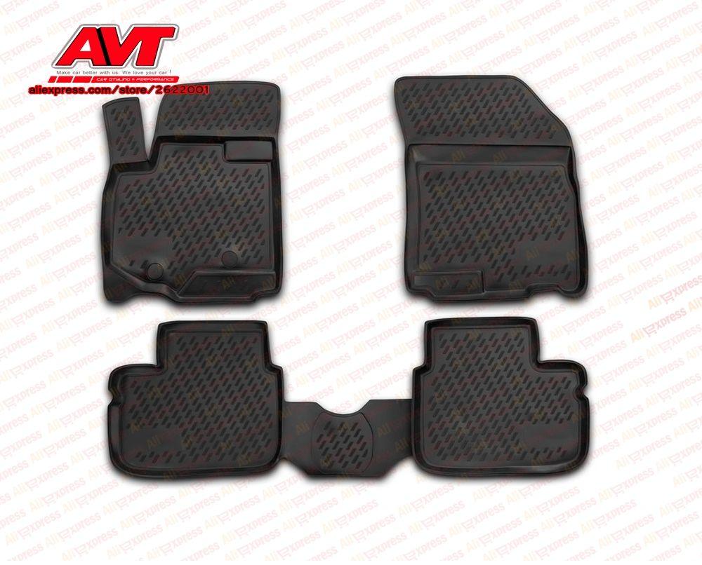 Floor mats for Suzuki SX4 2010-2013 4 pcs rubber rugs non slip rubber interior car styling accessories