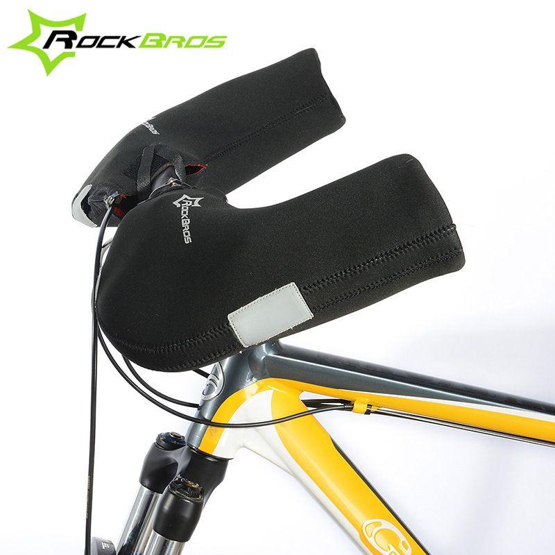 ROCKBROS Winter Cycling Gloves MTB Road Bike Riding Warm Full Finger Gloves Windproof Waterproof Mens Bicycle Handlebar Mittens