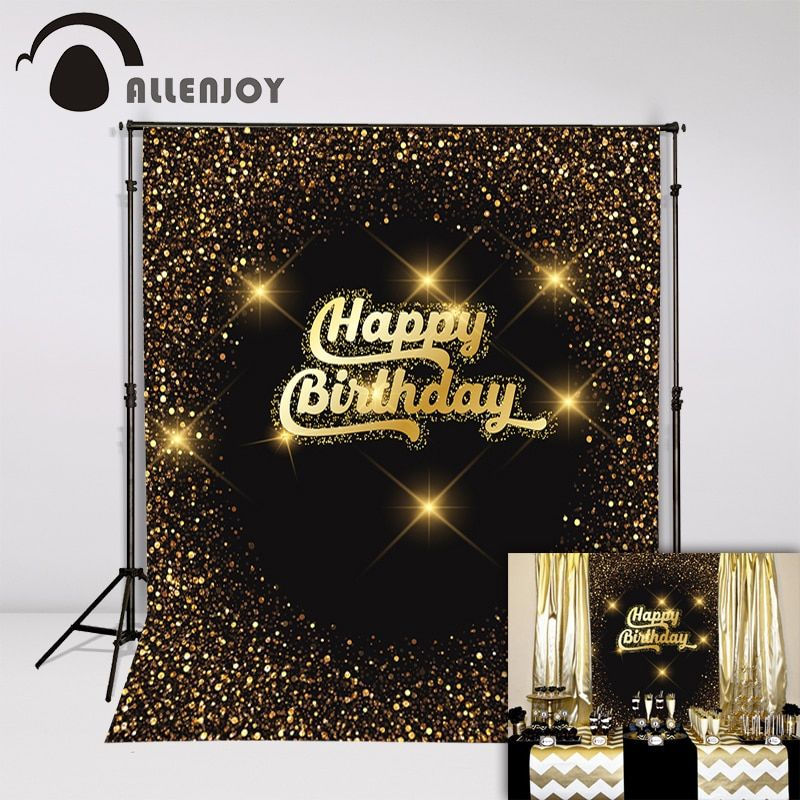 AllenJoy arrière-plans photographiques paillettes confettis ballons bougies fête photocall anniversaire toile de fond photographie séance photo