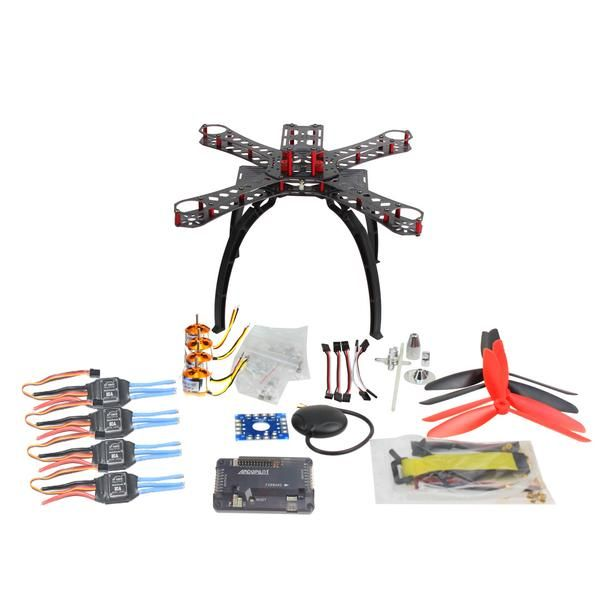 DIY RC Multicopter FPV APM2.8 GPS Drone X4M310L Fiberglass Frame Kit 1400KV Motor XT-XINTE 30A ESC Propeller F14891-A