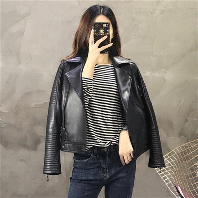 Clearance Sale Randomly Send Genuine Leather Jackets 100% Sheepskin High quality Moto&bike Leather Jackets Free Shipping