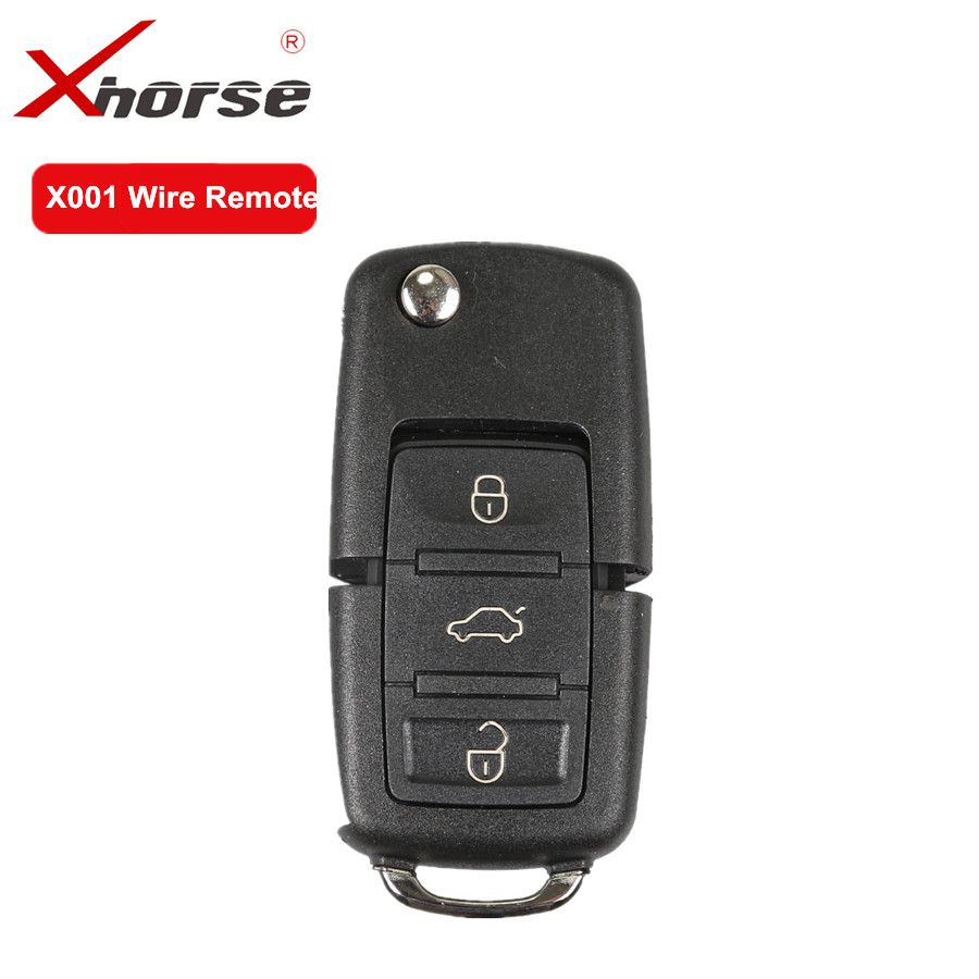 XHORSE X001 Draht Remote Key Für B5 Typ 3 Tasten Universal-fernbedienung Taste Arbeit mit VVDI2 und VVDI Schlüssel Werkzeug 10 teile/los