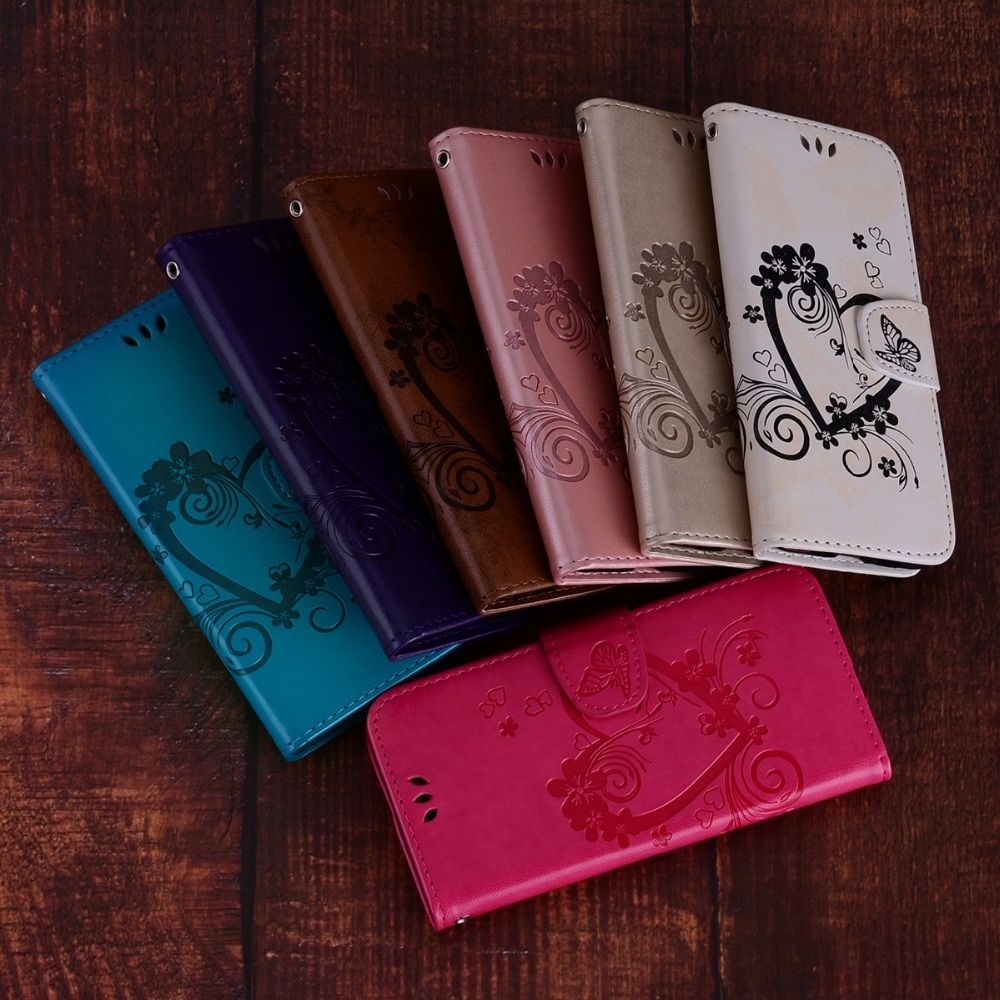 Fashion Art Flip Leather Case Wallet Book Style Flower Phone Bags for sumsung J4 J6 A6 A8 Plus 2018 Love Butterfly cove
