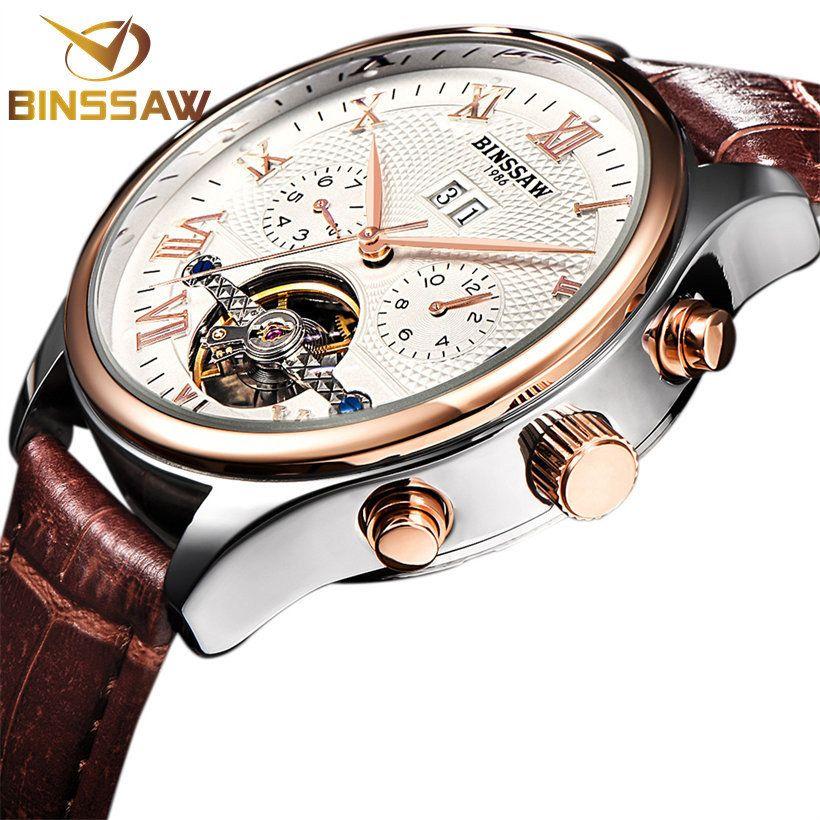 2017 BINSSAW Uhren Männer Luxury Top Brand New Fashion männer Big Designer Automatische Mechanische Männliche Armbanduhr relogio masculino