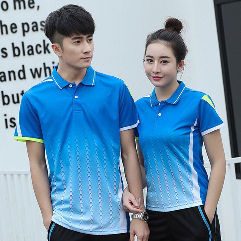 Freies Drucken Badminton t-shirt Männer/frauen, sport badminton kleidung, Tischtennis t-shirt, Tennis shirts, AY102