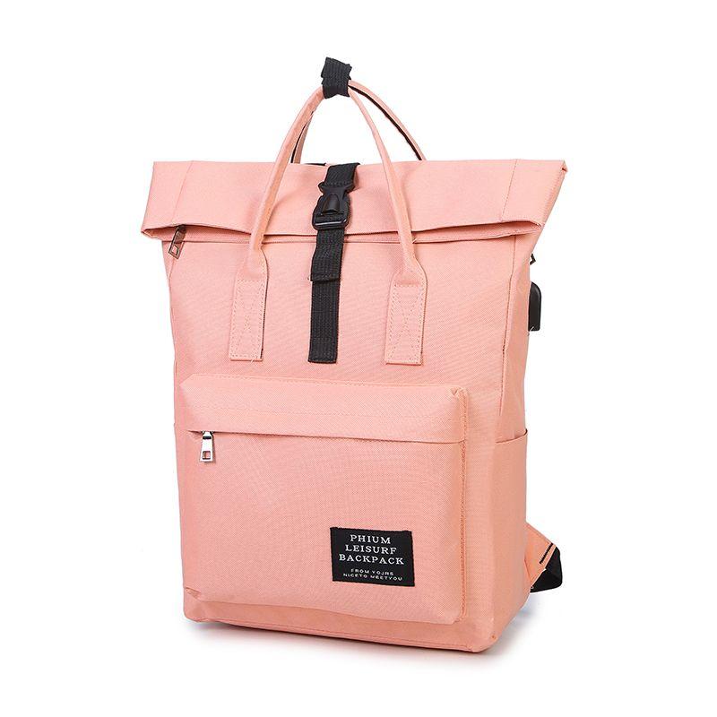Femmes externe USB Charge sac à dos toile sac à dos mâle Mochila Escolar filles ordinateur portable épaule sacs d'école sac à dos pour les adolescents