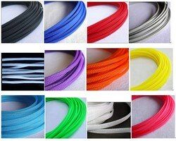 3MM 4MM 6MM 8MM 10MM 12MM 16MM add density pure mix color Flat PET Sleeves Braided Expandable Cable Wire nylon Sleeving 10M/1LOT