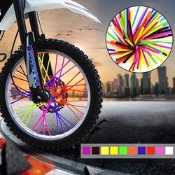 36 Pcs Moto Roue À Rayons Protecteur Wraps Jantes Peau Garniture Couvre Tuyau Pour Motocross Vélo Vélo Accessoires Cool 10 Couleurs
