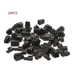 30 Pcs 4.2mm 6+2 Pin Male Power Connector Plastic Shell For PC Graphics Card PCI-E New Z09 Drop ship