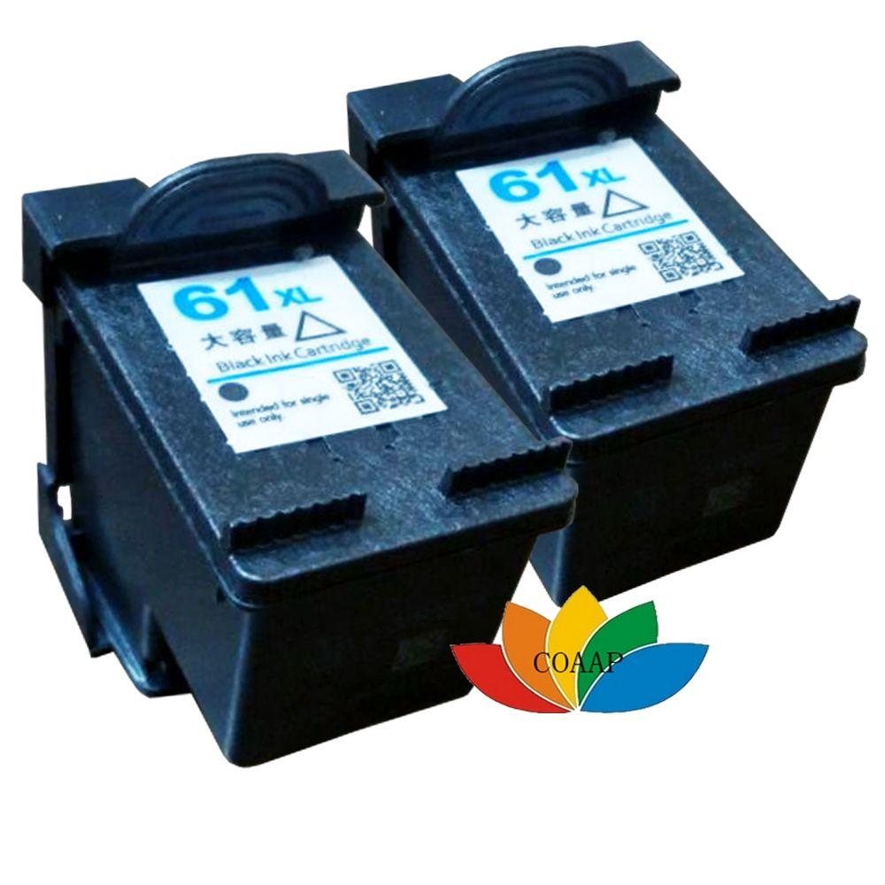 2PK Compatible hp61 HP 61 XL Black Ink Cartridge for hp Officejet 2620 4630 4632 4634 4635 8040 8045 Printer