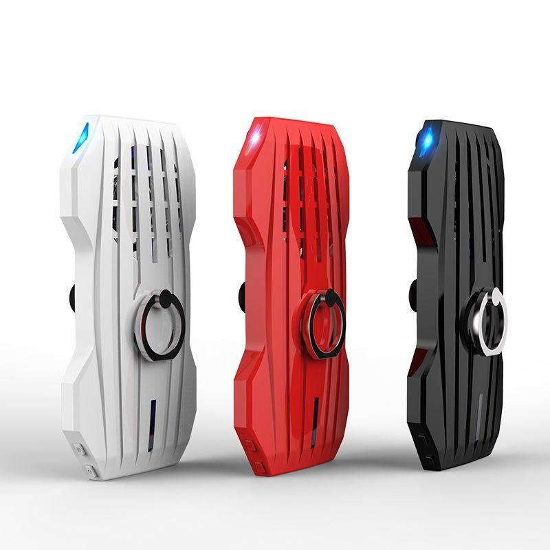 Griff Kühler Handy Cooling Pad Mute Gaming Kühler Fans 2000 mah Power Bank Verstellbaren Ständer Für Smart Telefon Gamer