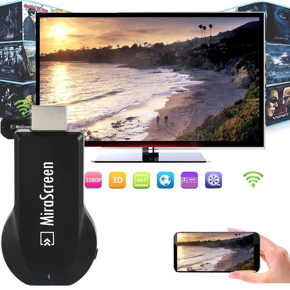 Sans fil Wifi Dongle HDMI Airplay pour Adaptateur Pour iPhone X XS MAX XR 5 6 7 8 Plus Samsung S6 S7 BORD S8 + S9 S10 Note10 Android