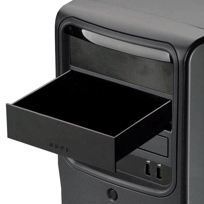 Новый черный 523 Считыватели дискет бит 5.25-дюймовый металлический Корпуса компьютер шасси CD-ROM привод ящик шкаф для хранения сигареты коробк...