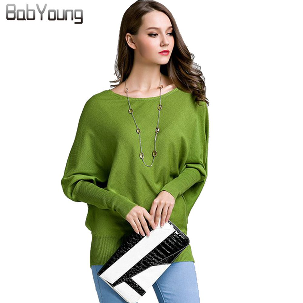 Babyoung 2017 otoño mujer Cashmere pullover señoras lana Suéteres Batwing manga sudaderas Jerséis mujer pull long femme