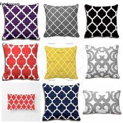 Maroc Taie d'oreiller Décoratif Oreillers Couverture Géométrique Housse de coussin Home Decor quatrefoil housse de coussin pour canapé