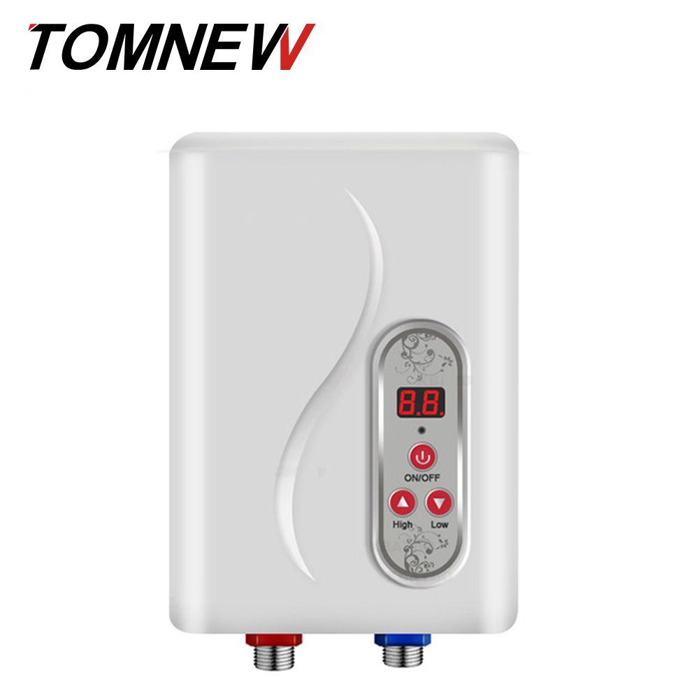 TOMNEW Elektrische Dusche Durchlauferhitzer Thermostat Fluss Heizung Bad Heizung Sofortige Heiße Dusche Wasser 3 sekunden heißer