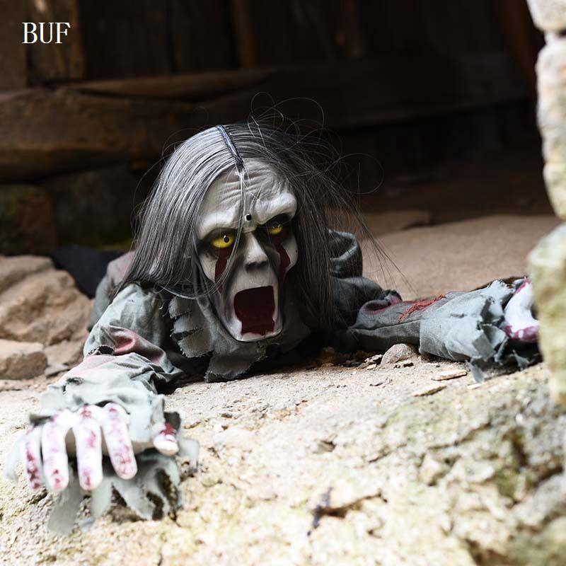 Buf ужас Halloween Party украшения электрический, призрак Творческий Хэллоуин украшения ужас призраки с горящими Средства ухода для век