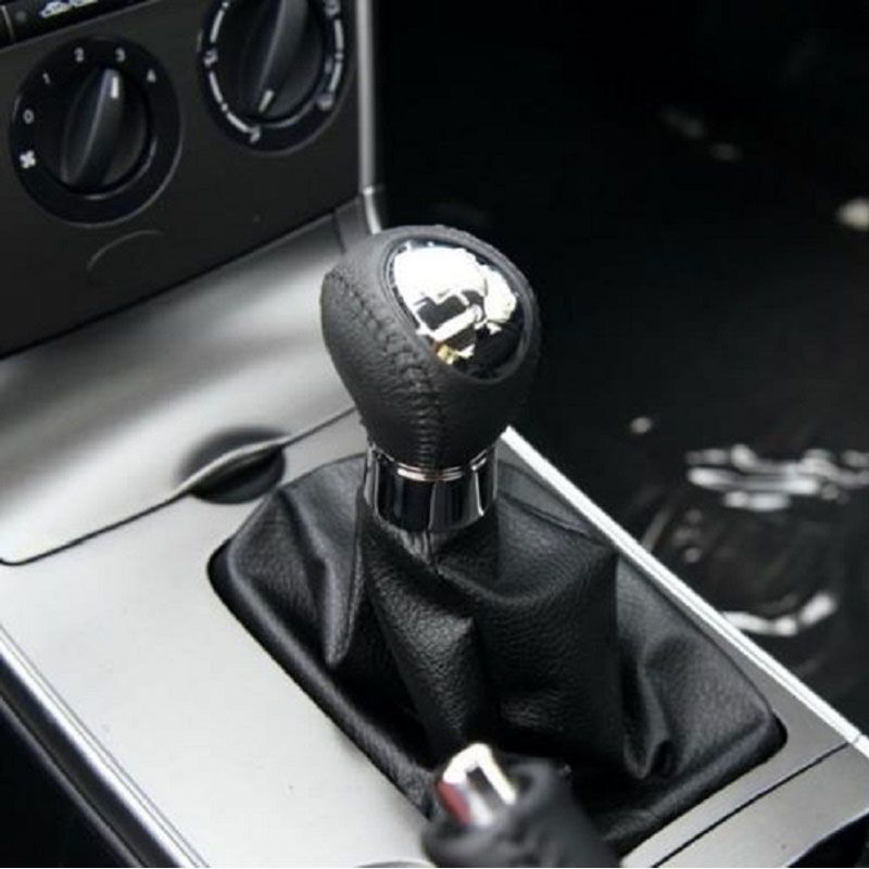 5/ 6 Speed Car Shift Gear Knob PU Leather Boot Gaitor For MAZDA 6 2002 2003 2004 2005 2006 2007 Car Styling Accessories