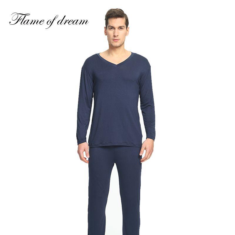 Модальные материал пижамы Para HO Для мужчин s пижамы Для мужчин Пижама Homme Пижама masculino пижамы Для мужчин человек Костюмы комплект 114