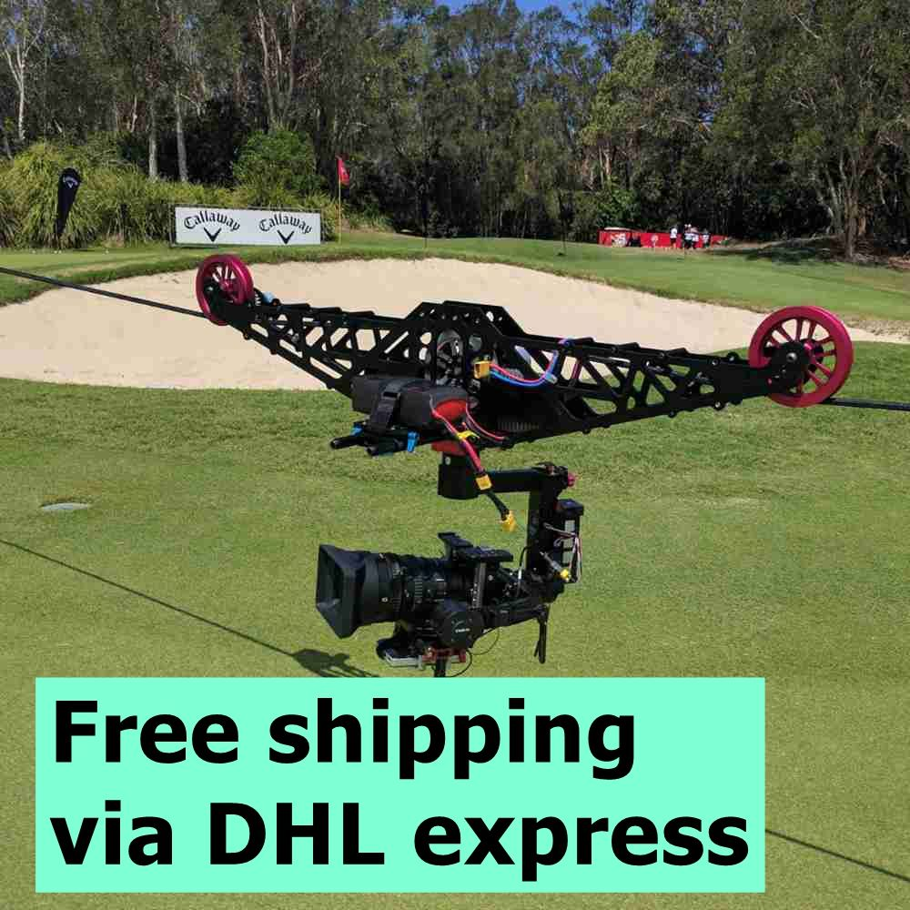 Linecam cablecam professionelle videoaufnahmen ausrüstung cablecam system adler augen kostenloser versand
