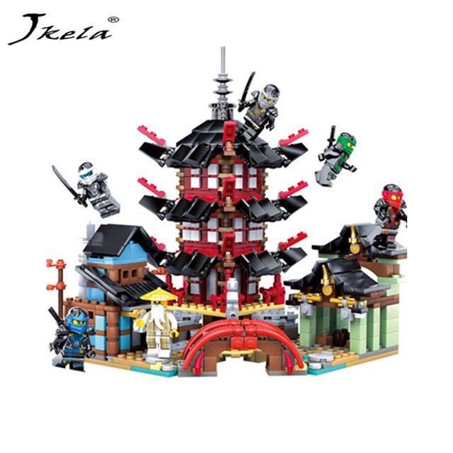 [Jkela] Tempel van Opstanding Bouwstenen Ninja Collectio Legoings Ninjagoing Temple Block Set Master Wu Kids Building Brick Toy