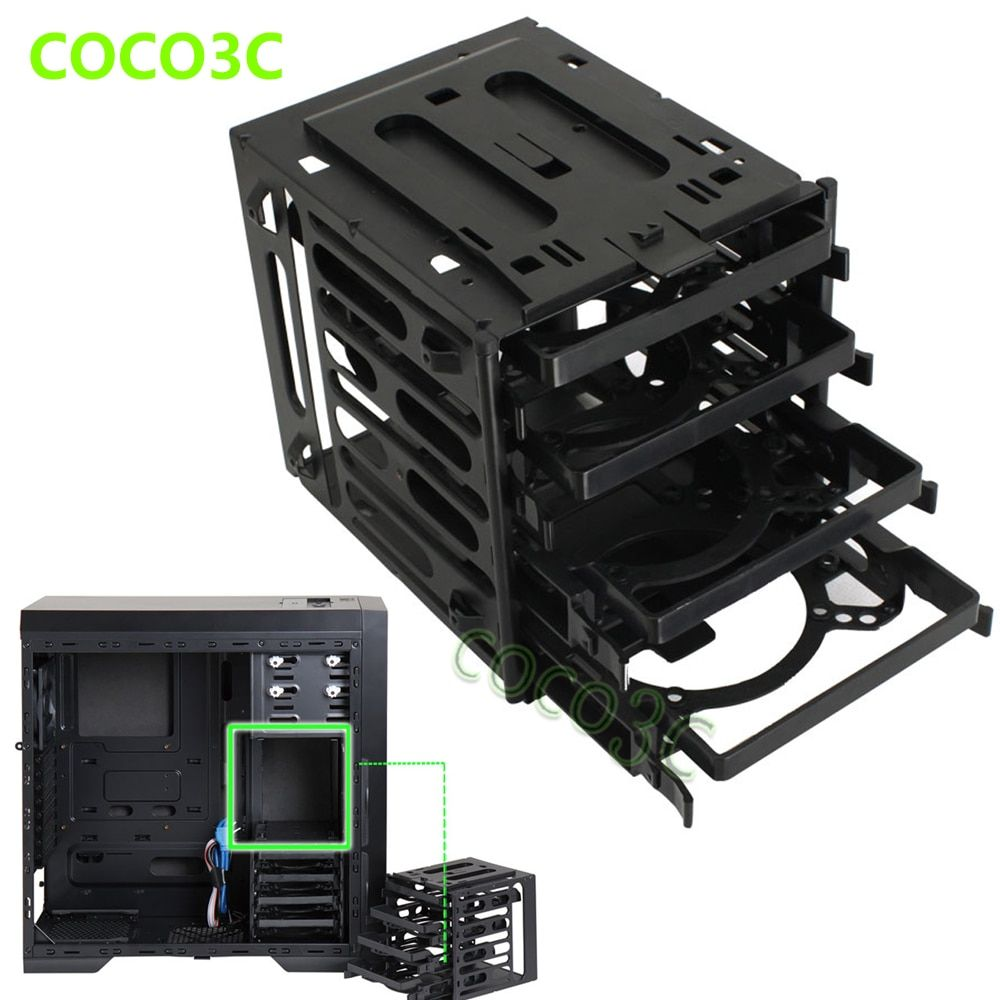 4 Bays Drives Protective Case Box For 2.5