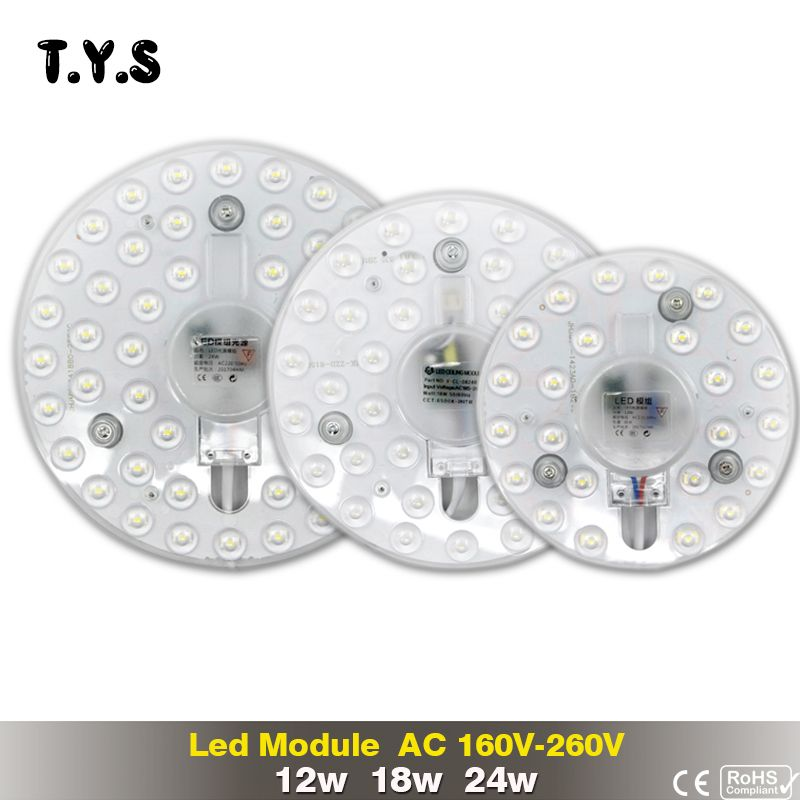 LED Bulb 12w 18w 24w SMD 2835 For Module 220V Panel Light Modern Ceiling Lamp Led Downlight Driver Led Energy Saving Wall Lamp