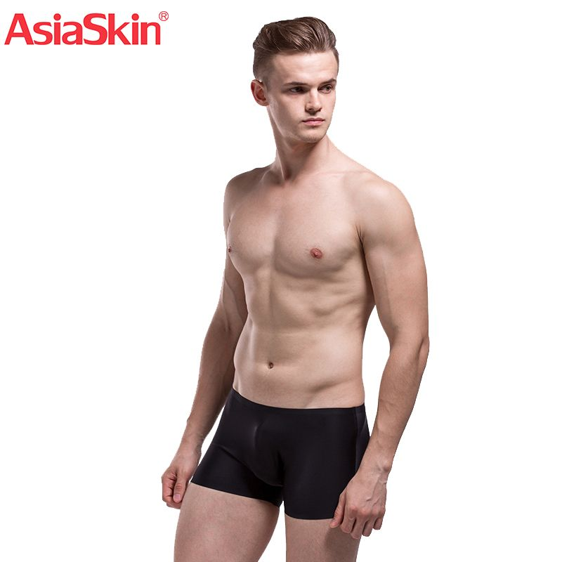 2017 Famous Mens Ultra-thin Seamless Underwear Boxers Solid Fashion Ice Silk Boxer Sexy Semi-Transparent Ropa Interior <font><b>Hombre</b></font>