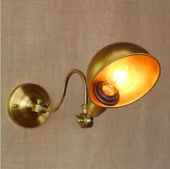 60W Golden LED Wall Lamp Dinning Room Vintage Industrial Edison Wall Sconce Arandela Lampara Pared LED Stair Light
