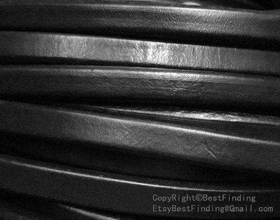 Negro genuino cuero regaliz 10x6mm regaliz cuerda de cuero