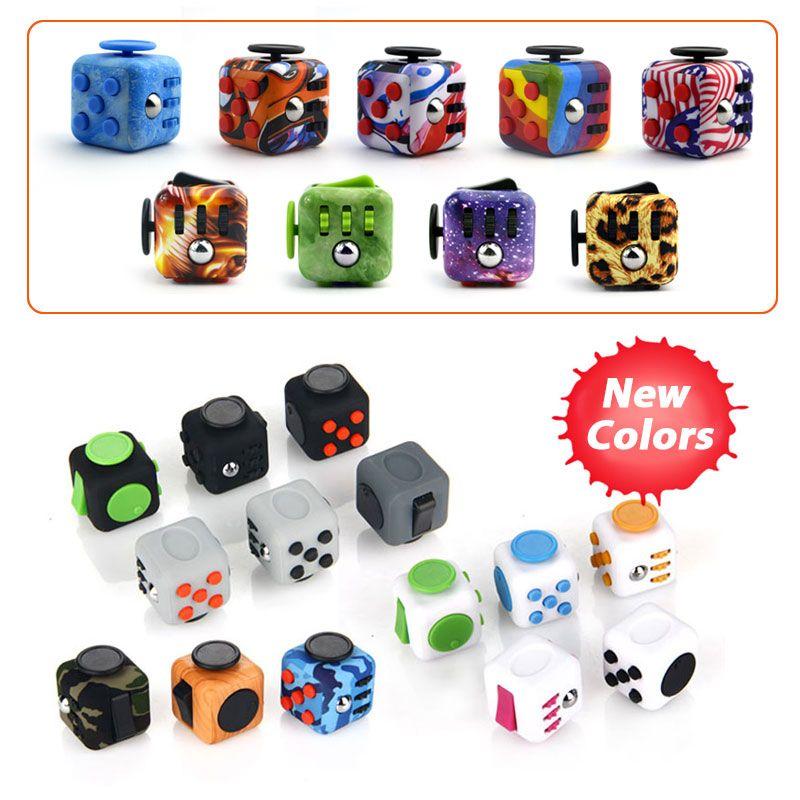 ABS Fidget Cubo Cubos Mágicos Juguetes de Escritorio Spin Toy Alivio Del Estrés Material ABS Puzzle Cube Juguetes Antiestrés EDC Regalos para Los Niños adultos