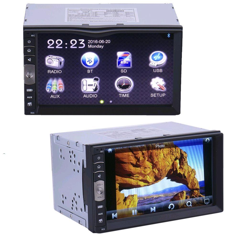 7 pouce Universel 2 Din HD Bluetooth USB/TF Entrée Auxiliaire De Voiture Stéréo FM Radio MP5 Lecteur Pour VW /Volkswagen/Passat/POLO/GOLF/Skoda