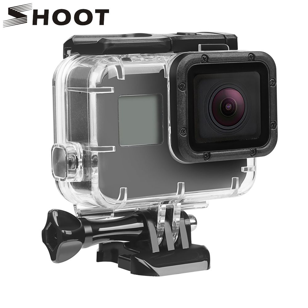 SHOOT 40M Underwater Waterproof Case for GoPro Hero 5 6 7 Black Go Pro Hero 6 7 Camera Diving Housing <font><b>Mount</b></font> for GoPro Accessory