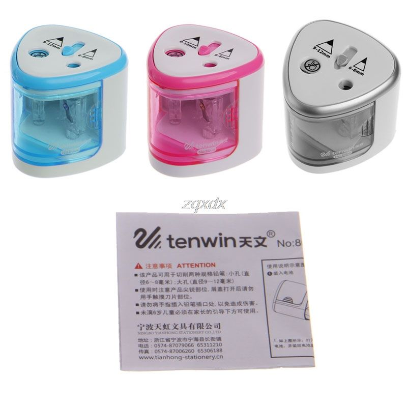 New Automatic Two-hole Electric Touch Switch Pencil Sharpener Home Office School Z11 Drop ship