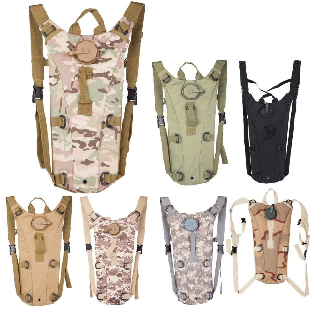 3L Portable Hydration Packs Camo Tactical Bike Bicycle Camel Water Bladder Bag Assault Backpack Camping <font><b>Hiking</b></font> Pouch Water Bag