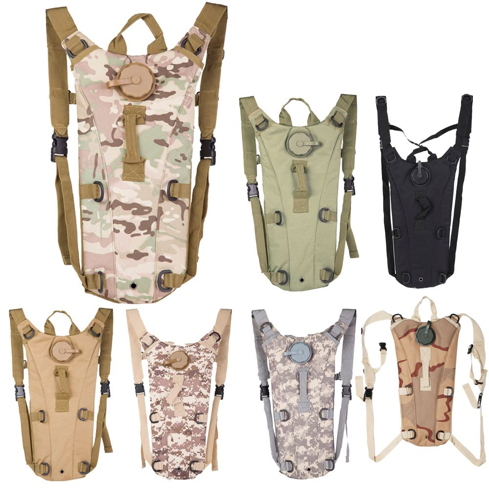 3L Portable Hydration <font><b>Packs</b></font> Camo Tactical Bike Bicycle Camel Water Bladder Bag Assault Backpack Camping Hiking Pouch Water Bag