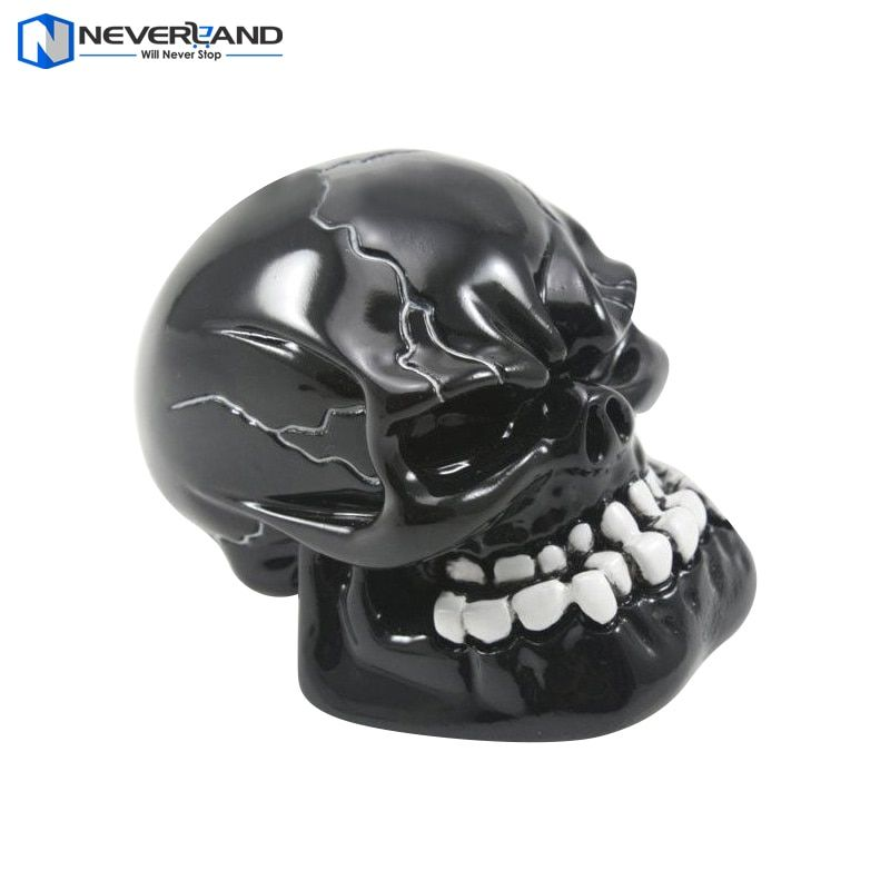 NEVERLAND Universal Manual Gear Stick Shift Shifter Lever Knob Wicked Carved Black Skull pomo marchas