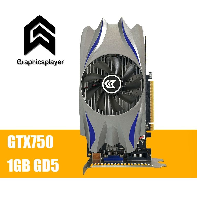 Grafikkarte GTX 750 1024 MB/1 GB 128bit GDDR5 VGA Placa de Video carte graphique Grafikkarte für NVIDIA Geforce PC fan