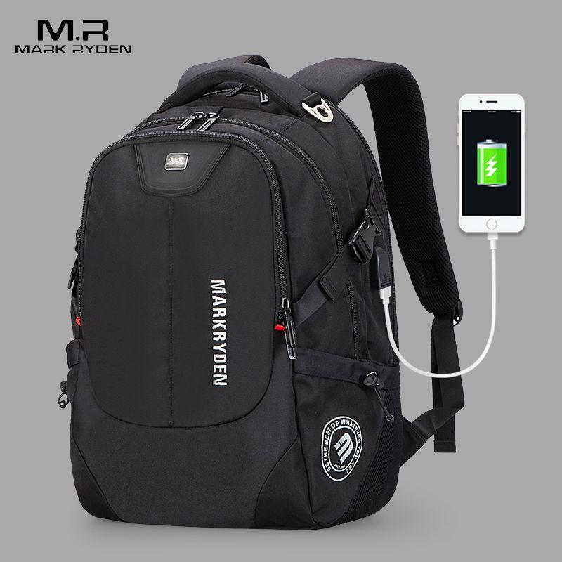 2018 New Mark Ryden Men's Backpacks Bolsa Mochila for Laptop 15 Inch 16 Inch Notebook Computer Bags Men Backpack School Rucksack