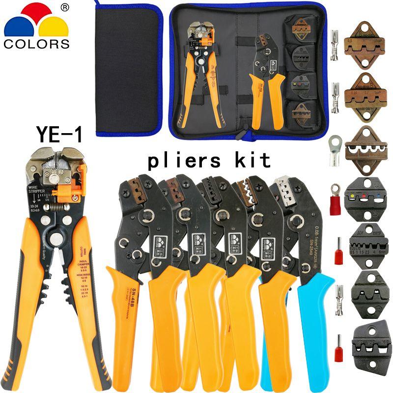 Kit outils de sertissage SN-2549 SN-48B pinces jaw kit décapage coupe-fil pinces pour plug/tube/isolation terminaux calmp outils