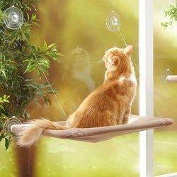 Cute PET colgante Camas rodamiento 20 kg gato ventana Sunny asiento montaje hamaca gato cómodo gato mascota cama