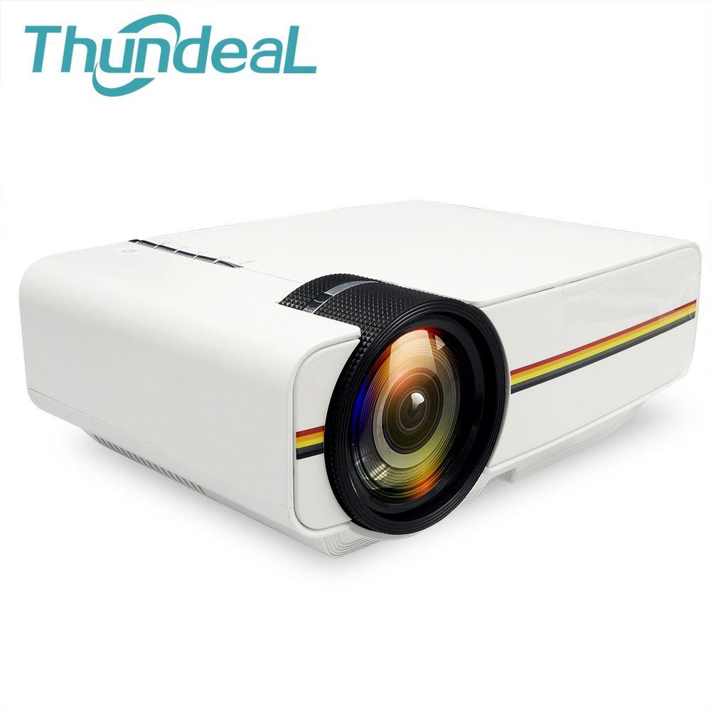 ThundeaL YG300 Mise À Niveau YG400 Mini Projecteur Pour Jeux Vidéo TV Beamer Projet Home Cinéma Film AC3 HDMI VGA AV SD USB YG-400
