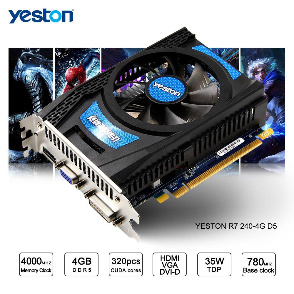 Yeston Radeon R7 200 Serie R7 240 GPU 4 GB GDDR5 128bit Gaming Desktop PC Video Graphics Karten unterstützung VGA/DVI/HDMI