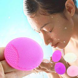 Мыть горячей Pad отшелушивающий для лица SPA Черноголовых Кисть для очищения лица ребенка массажные рукавицы для душа и ванны Губки Скрубберы