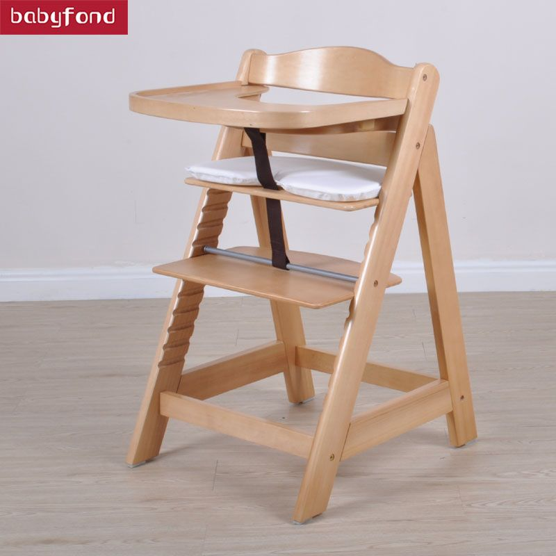 Beth Kyle Wood Baby Chair Multifunctional Infant Seat Height Adjustable Lifetime Meal
