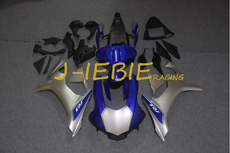 Silver blue black Injection Fairing Body Work Frame Kit for Yamaha YZF 1000 R1 2015 2016 2017