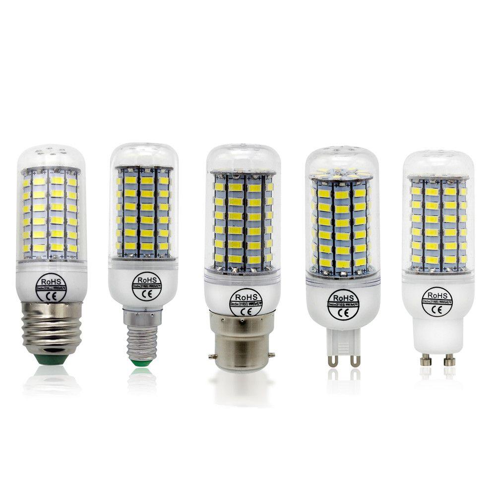 1pcs CE&RoHs LED Lamp E27 E14 B22 G9 GU10 Lights AC 220V SMD 5730 Chandelier Spotlight 12 24 36 48 56 69 72LEDs Corn Bulb